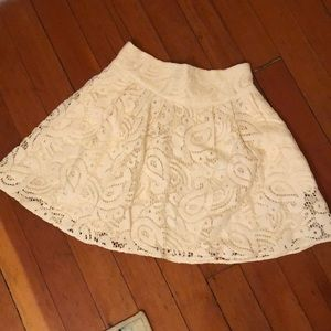Nanette Lepore Lace Mini Skirt Sz 4